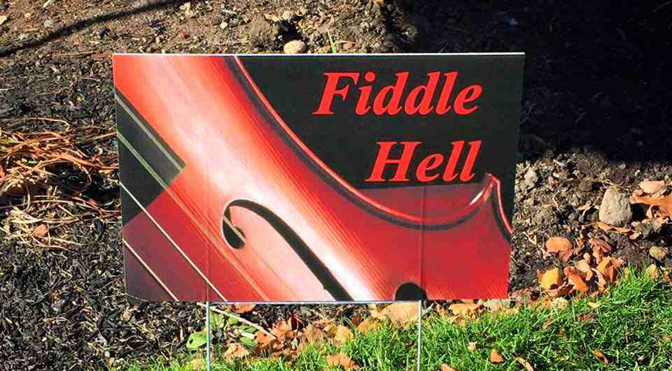 Fiddle Hell Sign